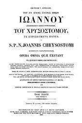 Patrologiæ cursus completus [Series Græca]: ... omnium ss. patrum, doctorum, scriptorumque ecclasiasticorum sive Latinorum sive Græcorum ...