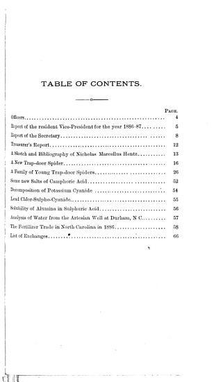 Journal of the Elisha Mitchell Scientific Society PDF