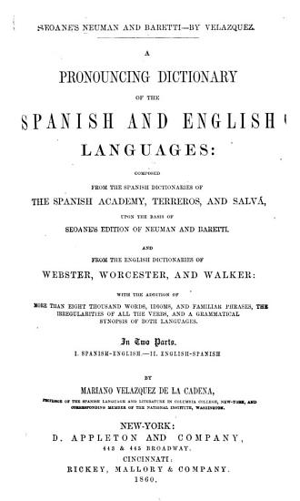 A Pronouncing Dictionary of the Spanish and English Languages PDF
