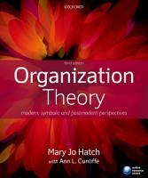 Organization Theory PDF