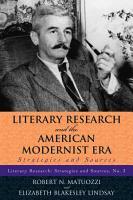 Literary Research and the American Realism and Naturalism Period PDF