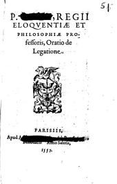 Oratio de Legatione