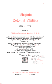 Virginia County Records: Volume 2