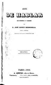 Arte de hablar en prosa y verso: Volumen 1