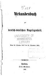 Urkundenbuch zur deutsch-dänischen Angelegenheit: vom 29. October 1857 bis 26. December 1861
