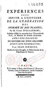 OEuvres de M. l'Abbé Spallanzani