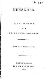 Menschen: uit de papieren van de bruine Soubise, Volume 1