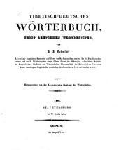 Tibetisch-deutsches Wörterbuch, nebst deutschem Wortregister