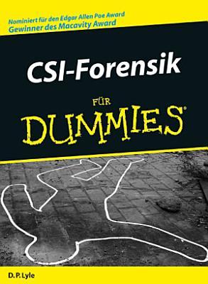 CSI Forensik f  r Dummies PDF