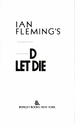 Ian Fleming S Live And Let Die Book PDF
