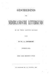Geschiedenis der Nederlandsche letterkunde: Geschiedenis der Nederlandsche letterkunde in de twee laatste eeuwen. Dl. 6