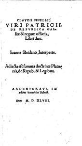 De Republica Galliae & regum officiis