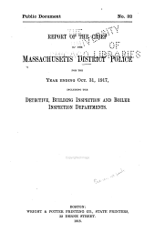 Report of the Chief of the Massachusetts District Police ...