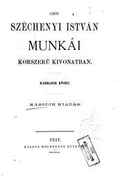 Gróf Széchenyi István munkái korszerű kivonatban: 3. kötet