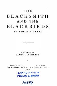 The Blacksmith and the Blackbirds Book