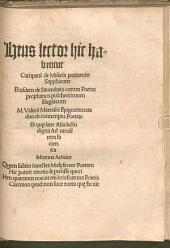 De Miseria poetarum Sapphicum