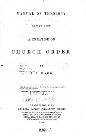 Manual of Theology  A treatise on church order PDF