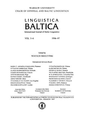 Linguistica Baltica
