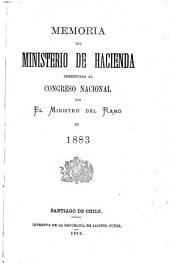Memoria del Ministrio de Hacienda presentada al Congreso nacional: Parte 1