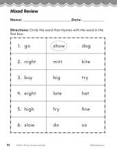Second Grade Foundational Phonics Skills: Mixed Review