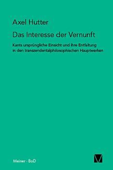 Das Interesse der Vernunft PDF