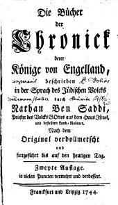 Die Bücher der Chronick derer Könige von Engelland