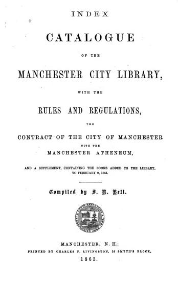 Index Catalogue of the Manchester City Library PDF
