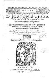 Omnia D. Platonis opera