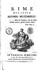 Rime del conte Alfonso Muzzarelli