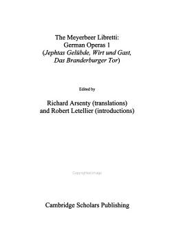 The Meyerbeer Libretti  German operas 1 PDF