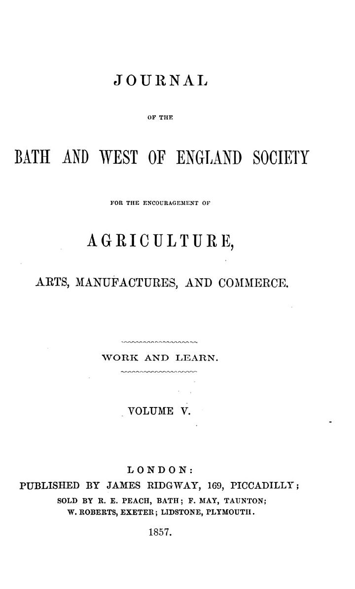 journal of the bath and west of england society