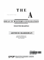 The Modern Age Ideas In Western Civilization Selected Readings Book PDF
