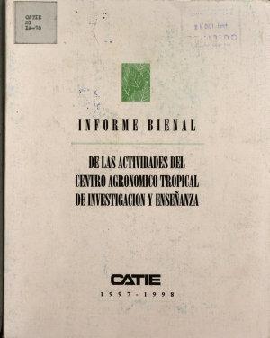 De Las Actividades Del Centro Agronomico Tropical de Investigacion Y Ensenanza PDF