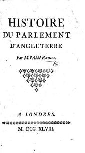 Histoire du Parlement d'Angleterre