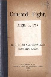 Concord Fight, April 19, 1775