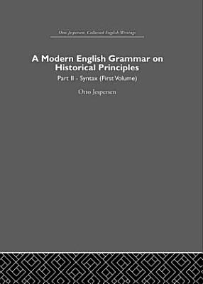 A Modern English Grammar on Historical Principles PDF