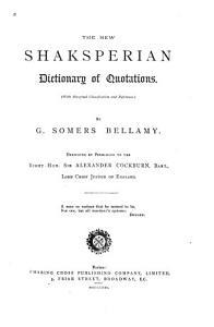 The New Shaksperian Dictionary of Quotations PDF