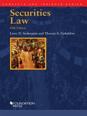 Securities Law, 5th (Concepts and Insights Series): Edition 5