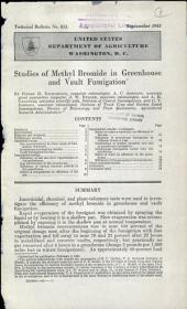 Studies of methyl bromide in greenhouse and vault fumigation: Volumes 851-875
