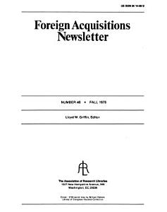Foreign acquisitions newsletter PDF