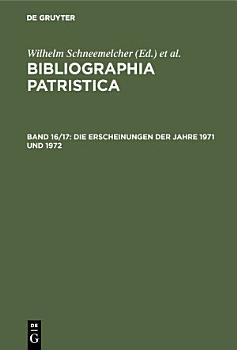 Die Erscheinungen der Jahre 1971 und 1972 PDF