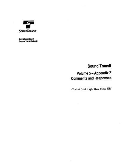 Central Link Light Rail Transit Project  Seattle  Tukwila and Seatac PDF