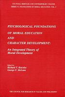 Psychological Foundations of Moral Education and Character Development PDF