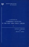 A Catalogue of Comedias Sueltas in the New York Public Library PDF