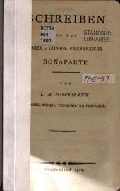 Schreiben an den Ober-consul Frankreichs Bonaparte