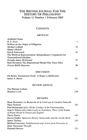 British journal for the history of philosophy PDF