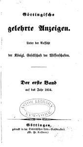Göttingische gelehrte Anzeigen: Band 1
