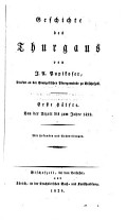 Geschichte des Thurgaus PDF