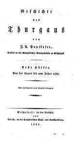 Geschichte des Thurgaus: Band 1