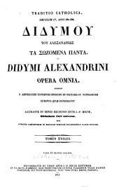 Patrologiæ cursus completus [Series Græca]: ... omnium ss. patrum, doctorum, scriptorumque ecclasiasticorum sive Latinorum sive Græcorum ..., Volume 39